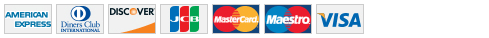 List of accepted credit cards
